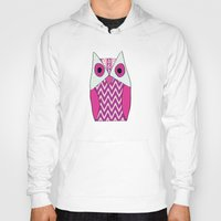ikat Hoodies featuring Ikat Owl by maybesparrowphotography