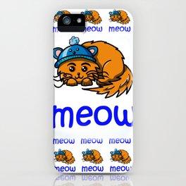 Cute cartoon ginger cat meow iPhone Case