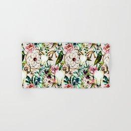 Bohemian Skull Pattern Flowery Vibrant Colors Hand & Bath Towel