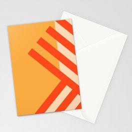 GEOMETRY ORANGE II Stationery Cards