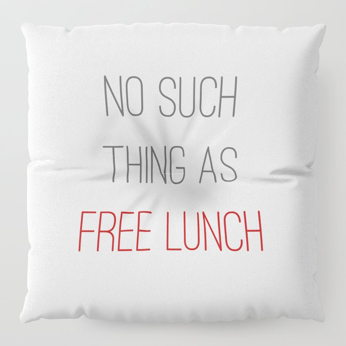FREE LUNCH 2 Floor Pillow