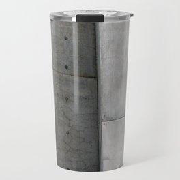 Brutalist Grey Concrete Abstract Travel Mug