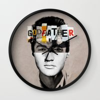 the godfather Wall Clocks featuring Godfather Mix 2 white by Marko Köppe