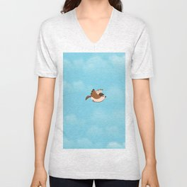 Little Flying Sparrow Unisex V-Neck