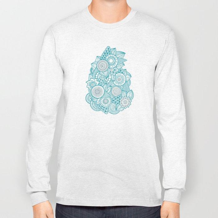 BOHO TURQUOISE PATTERN Long Sleeve T-shirt
