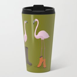 Fashion Flamingos Travel Mug