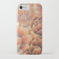 lotus flower iPhone & iPod Cases featuring Lotus by Jess Moore