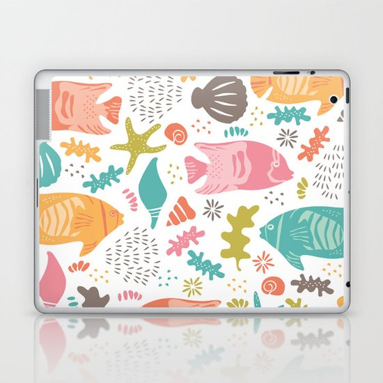Retro Fish Laptop & iPad Skin