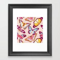 Aflutter in Blush Framed Art Print