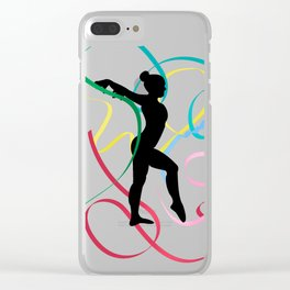Ribbon dancer on white Clear iPhone Case