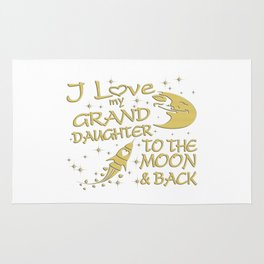 I Love My GrandDaughter to the Moon and Back Rug