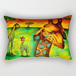 Radioactive Giraffes Rectangular Pillow