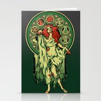 nouveau Stationery Cards featuring Zombie Nouveau by Megan Lara