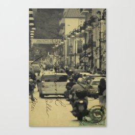 Sorrento street postcard Canvas Print