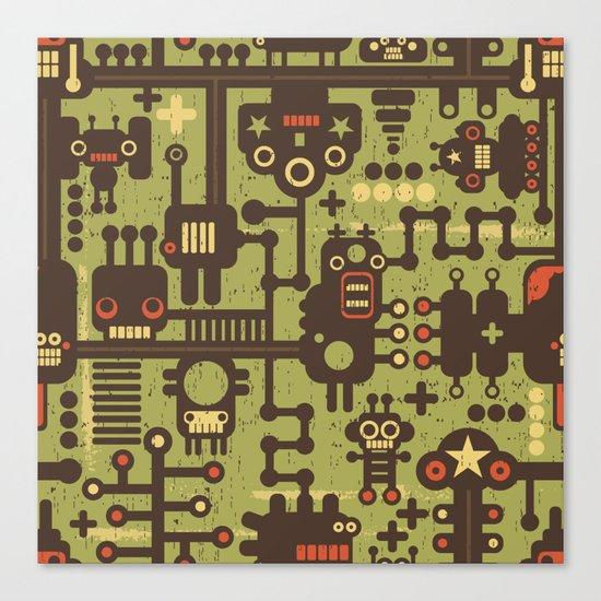 World of robots. Canvas Print
