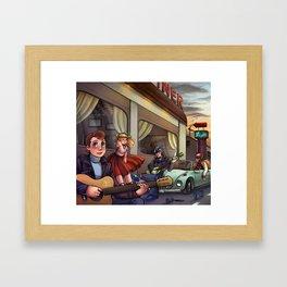 Rockin' and Rollin' Framed Art Print