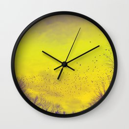 WARM TREES 1 _ keep the warm from the colors of fall Wall Clock