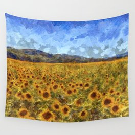 Vincent Van Gogh Sunflowers Wall Tapestry