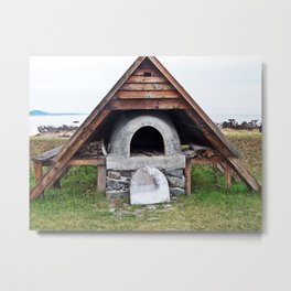 Bread Oven by the Sea Metal Print
