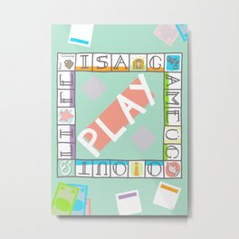 life is a game. Metal Print