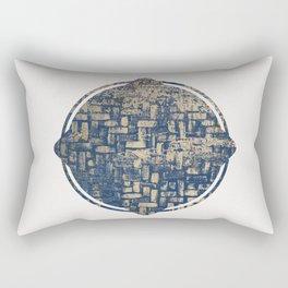 Blue Squircle Rectangular Pillow