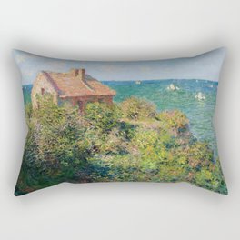 Fisherman's Cottage on the Cliffs at Varengeville Claude Monet Rectangular Pillow