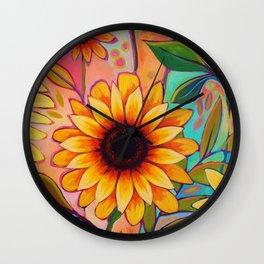 Sunflower Power 2 Wall Clock