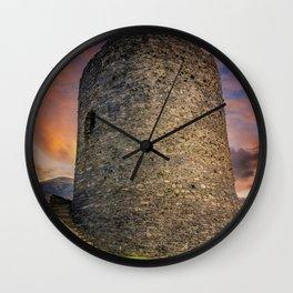 Dolbadarn Castle Snowdonia Wales Wall Clock