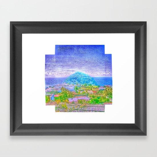 «sotto o sopra fatto» Framed Art Print