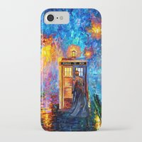 fandom iPhone & iPod Cases featuring The 10th Doctor who Starry the night Art painting iPhone 4 4s 5 5c 6, pillow case, mugs and tshirt by Three Second
