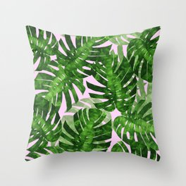 Tropical leaf VI Throw Pillow
