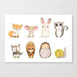 Mr. Squirrel & His Friends Canvas Print