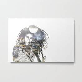 double exposure PV - C Metal Print