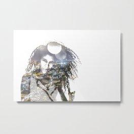 double exposure PV - C Metal Print