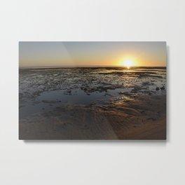 Glistening Sand Metal Print