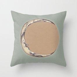 Waning Crescent Throw Pillow