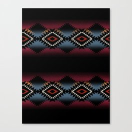 aztec in black number 5 Canvas Print