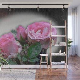 Ginnie's Pink Rose Art Wall Mural
