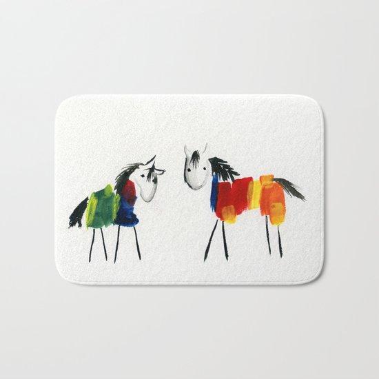 Little Rainbow Ponies Bath Mat