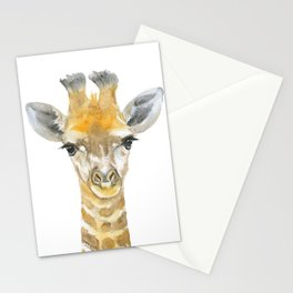 Baby Giraffe Watercolor Stationery Cards