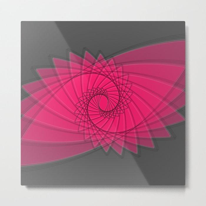 hypnotized - fluid geometrical eye shape Metal Print