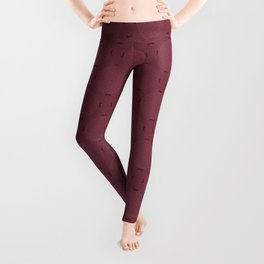 Rasberry Rosette Lace Leggings