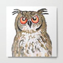 Golden owl Metal Print