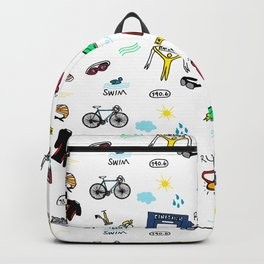Triathlon Doodles Backpack