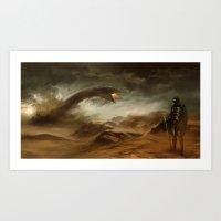 arrakis Art Prints featuring Sands of Arrakis by akreon