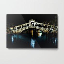 Rialto Bridge, Grand Canal, Venice, Italy Landscape by Jeanpaul Ferro Metal Print