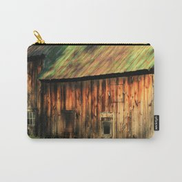 Sunrise on a weathered barn Carry-All Pouch