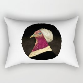 Study of a Chicken in a White Cap Rectangular Pillow