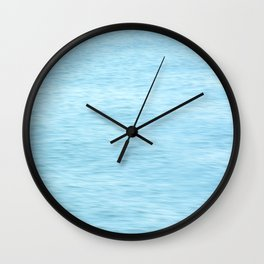 Colors of the Sea Water - Clear Blue Wall Clock