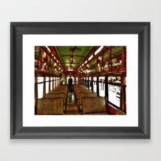 Trolley Train Framed Art Print